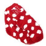 Polka Dot Fuzzy Nebraska Socks