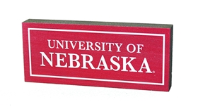 Red Uni of Nebraska Mini Table Top Stick Legacy