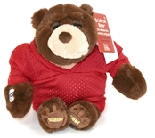 Sarge-Cheering Stuffed Bear in Husker Jersey