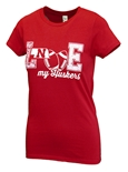 Womens Love My Huskers Tee
