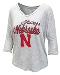 Womens Nebraska Huskers Concepts V-Neck
