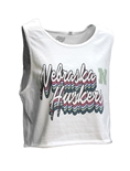 Womens Nebraska Huskers Cropped Good Vibes Tank
