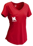 Womens Nebraska Unwind Pocket Tee