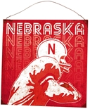 Nebraska Player Tin Sign
