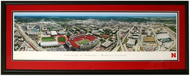 Deluxe Framed University of Nebraska Campus Aerial Panorama