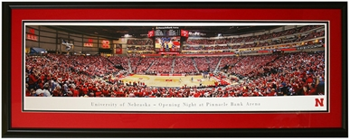 Deluxe Framed Opening Night Basketball at Pinnacle Arena
