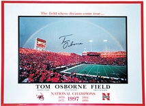 Coach Osborne Autographed Game Day Rainbow Poster