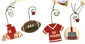 Huskers Christmas Ornaments Set