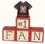 Number One Fan Husker Blocks