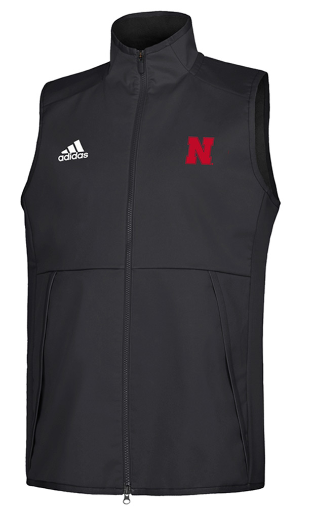 Adidas Nebraska Game Mode Full Zip Vest - Black
