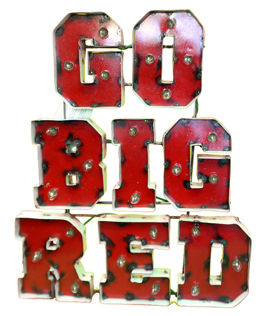 Go Big Red Illuminated Wall Sign