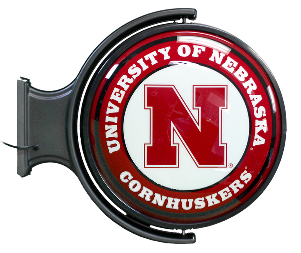 Rotating Illuminated University of Nebraska Sign