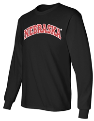 Arch Nebraska LS Tee - Black Nebraska Cornhuskers, Nebraska  Mens, Huskers  Mens, Nebraska  Long Sleeve, Huskers  Long Sleeve, Nebraska  Mens T-Shirts, Huskers  Mens T-Shirts, Nebraska Blackout!, Huskers Blackout!, Nebraska Arch Nebraska LS Tee - Black, Huskers Arch Nebraska LS Tee - Black