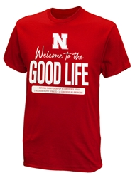 Good Life Stacked Tee Nebraska Cornhuskers, Nebraska  Mens, Huskers  Mens, Nebraska  Short Sleeve, Huskers  Short Sleeve, Nebraska  Mens T-Shirts, Huskers  Mens T-Shirts, Nebraska Good Life Stacked Tee, Huskers Good Life Stacked Tee