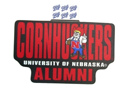 Herbie Cornhuskers Alumni Sticker Nebraska Cornhuskers, Nebraska Stickers Decals & Magnets, Huskers Stickers Decals & Magnets, Nebraska Herbie Cornhuskers Alumni Sticker  SIZE, Huskers Herbie Cornhuskers Alumni Sticker  SIZE