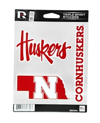 Huskers Spirit Decal Set Nebraska Cornhuskers, Nebraska Stickers Decals & Magnets, Huskers Stickers Decals & Magnets, Nebraska Huskers Spirit Decal Set, Huskers Huskers Spirit Decal Set