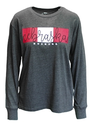 Lady Huskers Melange Colorblock Top Nebraska Cornhuskers, Nebraska  Ladies T-Shirts, Huskers  Ladies T-Shirts, Nebraska  Ladies Tops, Huskers  Ladies Tops, Nebraska  Ladies, Huskers  Ladies, Nebraska  Long Sleeve, Huskers  Long Sleeve, Nebraska Lady Huskers Melange Colorblock Top, Huskers Lady Huskers Melange Colorblock Top