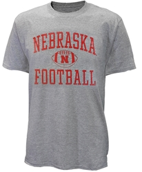 Nebraska Football w Ball Tee - Gray Nebraska Cornhuskers, Nebraska  Mens, Huskers  Mens, Nebraska  Short Sleeve, Huskers  Short Sleeve, Nebraska  Mens T-Shirts, Huskers  Mens T-Shirts, Nebraska Nebraska Football w Ball Tee - Gray, Huskers Nebraska Football w Ball Tee - Gray