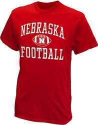 Nebraska Football w Ball Tee - Red Nebraska Cornhuskers, Nebraska  Mens, Huskers  Mens, Nebraska  Short Sleeve, Huskers  Short Sleeve, Nebraska  Mens T-Shirts, Huskers  Mens T-Shirts, Nebraska Nebraska Football w Ball Tee - Red, Huskers Nebraska Football w Ball Tee - Red