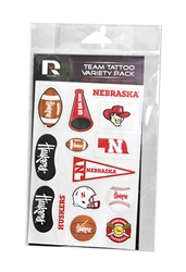Nebraska Huskers Variety Pack Team Face Tattoo Nebraska Cornhuskers, Nebraska  Tattoos & Patches, Huskers  Tattoos & Patches, Nebraska  Youth, Huskers  Youth, Nebraska  Ladies Accessories , Huskers  Ladies Accessories , Nebraska Nebraska Huskers Variety Pack Team Face Tattoo, Huskers Nebraska Huskers Variety Pack Team Face Tattoo