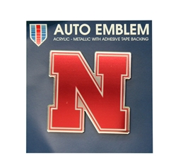 Nebraska N Auto Emblem  Nebraska Cornhuskers, Nebraska Vehicle, Huskers Vehicle, Nebraska Stickers Decals & Magnets, Huskers Stickers Decals & Magnets, Nebraska Nebraska Auto Emblem, Huskers Nebraska N Auto Emblem