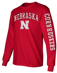 Nebraska N Cornhuskers Sleeve LS Tee - Red Nebraska Cornhuskers, Nebraska  Mens, Huskers  Mens, Nebraska  Long Sleeve, Huskers  Long Sleeve, Nebraska  Mens T-Shirts, Huskers  Mens T-Shirts, Nebraska Nebraska N Cornhuskers Sleeve LS Tee - Red, Huskers Nebraska N Cornhuskers Sleeve LS Tee - Red