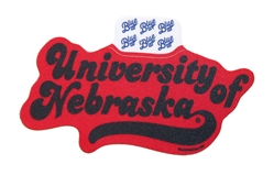 University Of Nebraska Huffed Front Sticker  Nebraska Cornhuskers, Nebraska Stickers Decals & Magnets, Huskers Stickers Decals & Magnets, Nebraska University Of Nebraska Huffed Front Sticker SIZE, Huskers University Of Nebraska Huffed Front Sticker SIZE