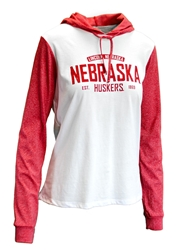 Womens Contrast Sleeve Lincoln NE Hoodie Nebraska Cornhuskers, Nebraska  Ladies Sweatshirts, Huskers  Ladies Sweatshirts, Nebraska  Ladies, Huskers  Ladies, Nebraska  Hoodies, Huskers  Hoodies, Nebraska Womens Contrast Sleeve Lincoln NE Hoodie, Huskers Womens Contrast Sleeve Lincoln NE Hoodie
