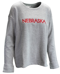 Womens Nebraska Ribbed Pullover Nebraska Cornhuskers, Nebraska  Ladies Tops, Huskers  Ladies Tops, Nebraska Womens Nebraska Ribbed Pullover, Huskers Womens Nebraska Ribbed Pullover