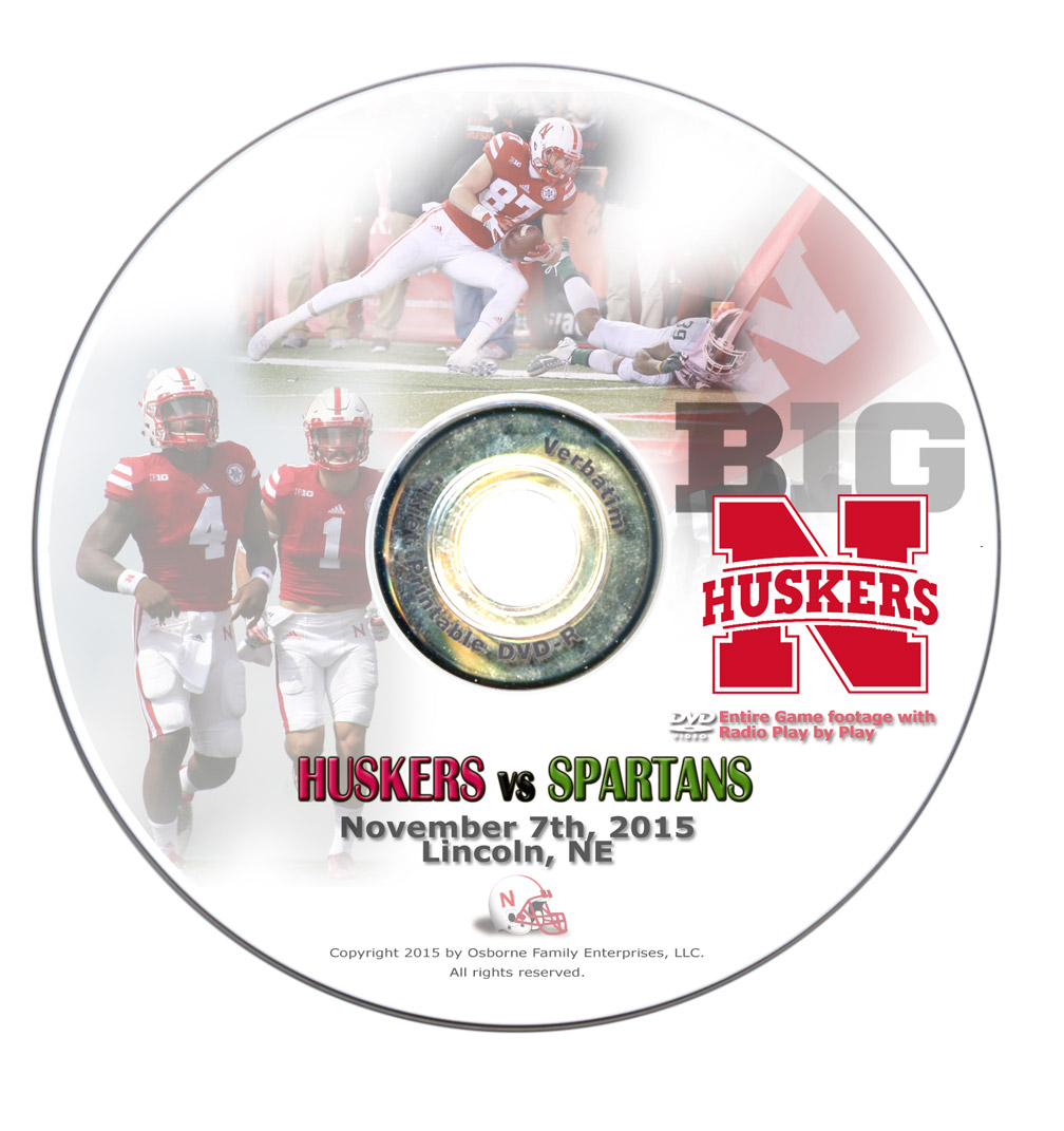 2015 Nebraska vs Michigan State DVD