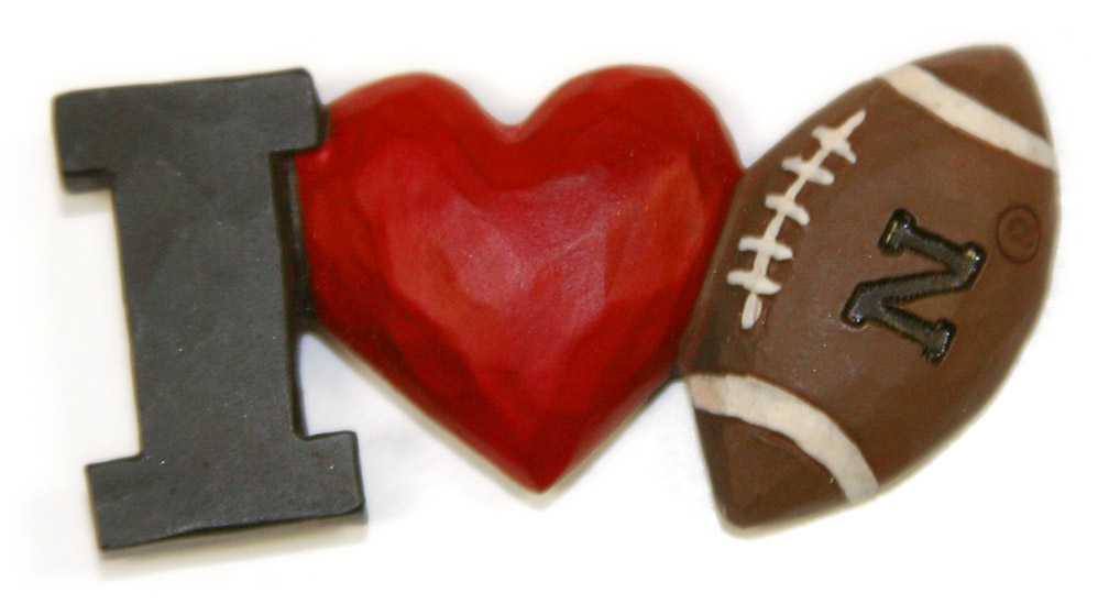 I Heart Nebraska Football Magnet