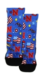 4th of July Youth Husker Rockem Socks