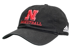Adidas 2020 Nebraska Basketball Slouch Cap - Black