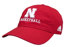 Adidas 2020 Nebraska Basketball Slouch Cap - Red
