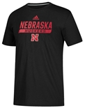 Adidas 2020 Nebraska Huskers Locker Tail Sweep Tee - Black