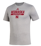 Adidas 2020 Nebraska Huskers Locker Tail Sweep Tee - Grey