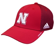 Adidas Huskers 2020 Coaches Mesh Structured Hat