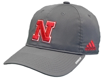 Adidas Huskers 2020 Coaches Slouch Adj Hat - Grey