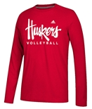 Adidas Huskers Volleyball LS Tee