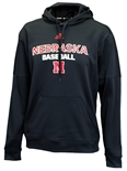 Adidas Nebraska Baseball Team Issue Fleece Hoodie