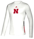 Adidas 2020 Nebraska Huskers Locker Side By Side LS Tee