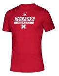 Adidas 2020 Nebraska Huskers Locker Tail Sweep Tee - Red