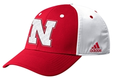 Adidas Official 2019 Sideline Coaches Nebraska Flex Hat - Red N White