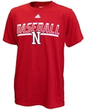 Adidas Safe At Home Nebraska Baseball Tee