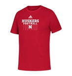Adidas 2020 Youth Huskers Football Locker Tee