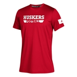 Adidas Youth Huskers Football Practice Tee