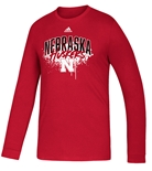 Adidas 2020 Youth Nebraska Huskers Playmaker LS Tee