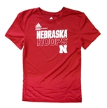 Adidas Youth Nebrasketball On Court Tee