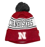 Cornhuskers Knit Cuffed New Era Pom
