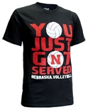 Get N Served Cornhuskers Volleyball Tee